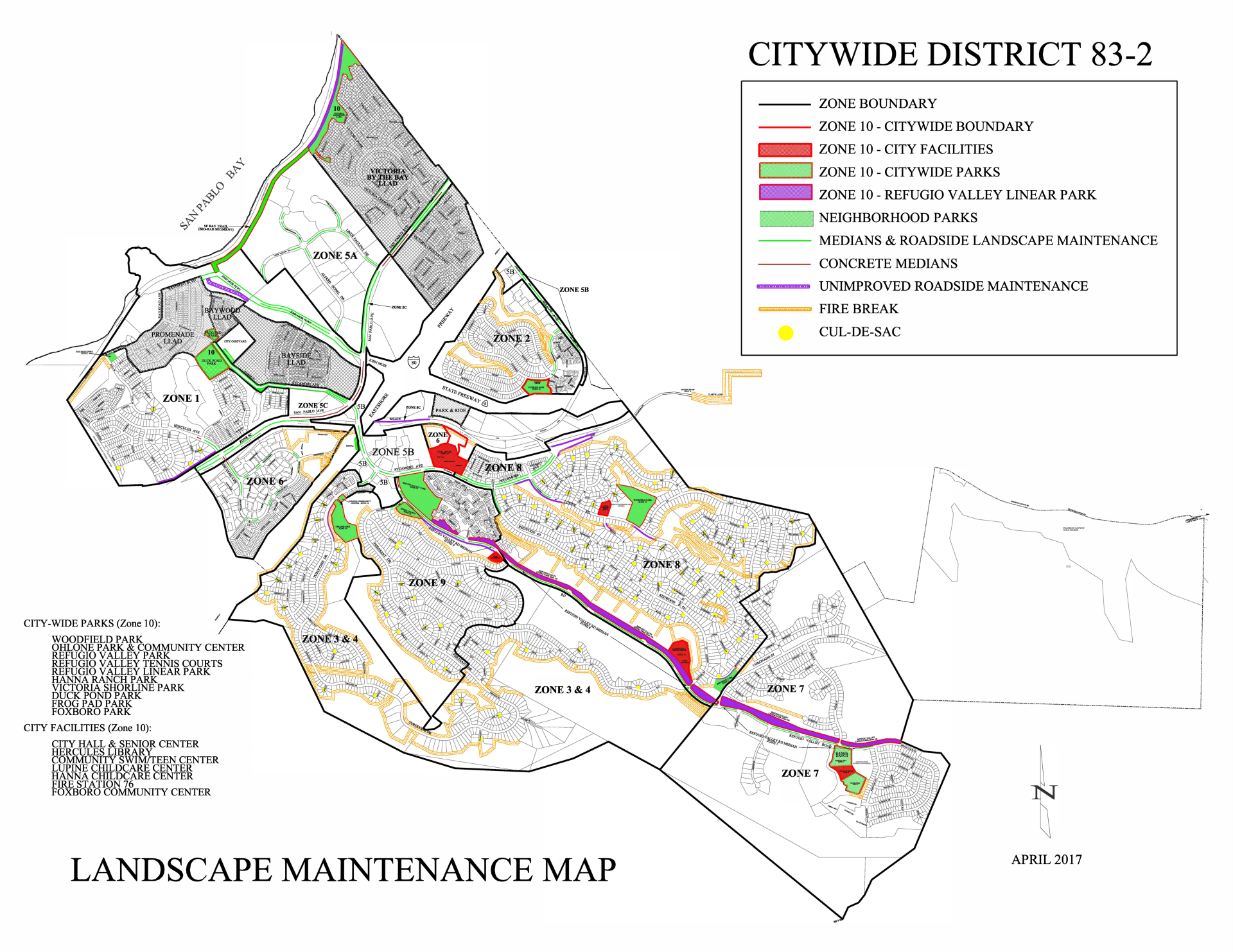 Citywide Zone Map - 2017