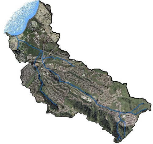 Refugio Creek Watershed Map